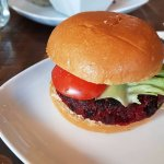 Beetroot burger tasted amazing