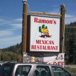 Sign for Ramon's Mexican Restaurant in South Fork, Colorado.