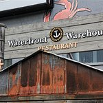 The entrance to the Waterfront Warehouse Restaurant is on the street side, not the boardwalk sid
