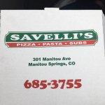 Photo de Savelli's Pizza