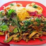 Chicken Shawarna platter