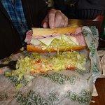 Extra large sub sandwiches