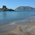 Agios Stefanos beach and island of Kastri