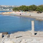 view of beach from Agios Stefanos basilica