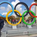 Olympic rings already up