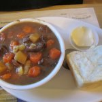 Moose Stew and homemade bread