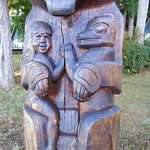 A totem pole with a story