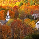 Autumn colors are stunning at Rabbit Hill Inn. A great Vermont fall vacation destination.