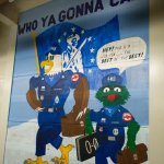 painting on wall of missile control room