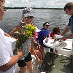 Burial at sea for Skipper, family and friends said good by to our friend . Skip had the coconut