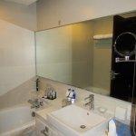 The bathroom with bath.
