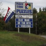 NH - NORTHWOOD - PIECE TIME PUZZLES - SIGN OUT FRONT