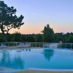 Lever du soleil sur la piscine...