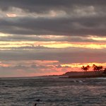 Sunset from Kuhio Shores grounds