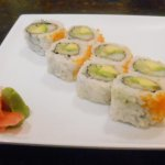 California Roll - One peice eaten