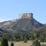 Site directly across the road from RV park, entrance to Mesa Verde to the right.