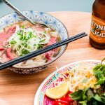 Beef brisket pho with fragrant 12 hour broth