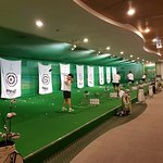The indoor driving range at Intercontinental Seoul COEX