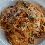 My Seafood Fettuccine with Creamy Tomato Sauce — a Special