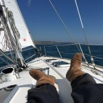 Gentle sail back to Gosport from Weymouth