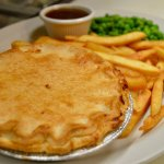 """""""Try one of our famous Beef & Onion or Steak & Kidney Pies"""""""