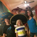 The kids having a little fun at Under The Volcano in London.