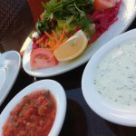Vorab gab es Salat