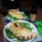 Calzone with prosciutto