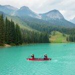 Canoeing at Emerald Lake.