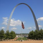 View from the St Louis old Courthouse were we purchased our arch and boat tour tickets