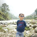 On the bank of Thirthan river