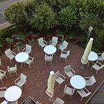 Kaffeegarten vorm Hotel