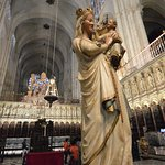 Statue at Choir of Toledo Cathedral, Spain.