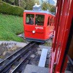 On the way down through the cogwheel railway.