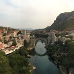 Mostar Bridge from the nearby mosque