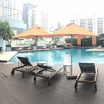 morning view of the pool area
