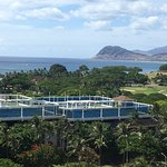 Partial Ocean view from our room -Handicapped Accessible