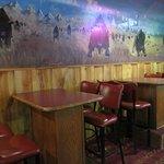 Indoor pub seating