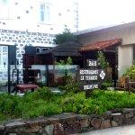 FACHADA DEL HOTEL QUE DA DIRECTAMENTE A LA PLAYA DE BAKIO