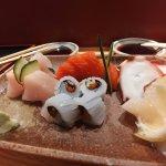 Pétoncles, pieuvre, saumon, thon