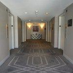 Hallway elevator lobby