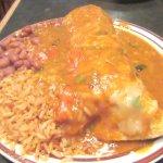 Enchilada, Beans, Rice, Harry's Hofbrau, San Leandro, CA