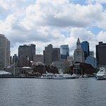 Boston Skyline from Harbor Cruise Boat