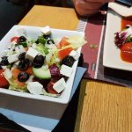 Greek Salad as a side dish to the main. Well worth the add on