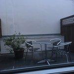 An out door patio