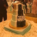 Wedding cake with custom design