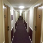 The same corridor of any Premier Inn