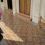 Intricate floor outside of throne room at Royal Palace