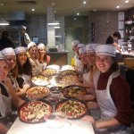Hen night making our own pizza's