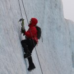 Ice climbing on the extended trek made easy by the professional guides that accompanied us.